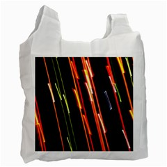 Colorful Diagonal Lights Lines Recycle Bag (one Side) by Alisyart
