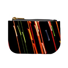 Colorful Diagonal Lights Lines Mini Coin Purses by Alisyart