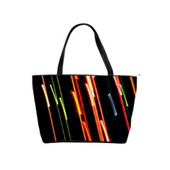 Colorful Diagonal Lights Lines Shoulder Handbags