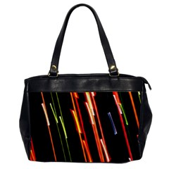Colorful Diagonal Lights Lines Office Handbags