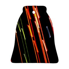 Colorful Diagonal Lights Lines Bell Ornament (two Sides) by Alisyart