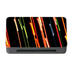 Colorful Diagonal Lights Lines Memory Card Reader With Cf by Alisyart