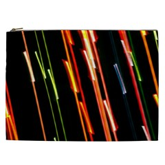 Colorful Diagonal Lights Lines Cosmetic Bag (xxl)  by Alisyart