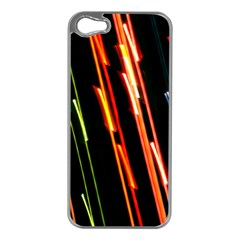 Colorful Diagonal Lights Lines Apple Iphone 5 Case (silver) by Alisyart