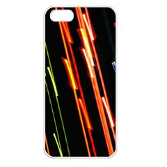 Colorful Diagonal Lights Lines Apple Iphone 5 Seamless Case (white) by Alisyart