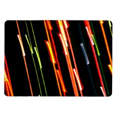 Colorful Diagonal Lights Lines Samsung Galaxy Tab 10 1  P7500 Flip Case