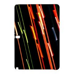 Colorful Diagonal Lights Lines Samsung Galaxy Tab Pro 10 1 Hardshell Case