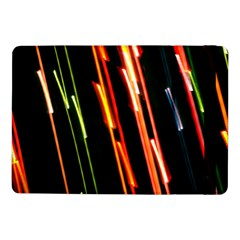 Colorful Diagonal Lights Lines Samsung Galaxy Tab Pro 10 1  Flip Case by Alisyart