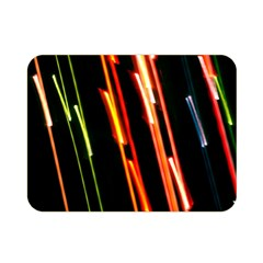 Colorful Diagonal Lights Lines Double Sided Flano Blanket (mini)  by Alisyart