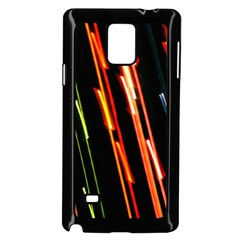 Colorful Diagonal Lights Lines Samsung Galaxy Note 4 Case (black) by Alisyart