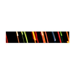 Colorful Diagonal Lights Lines Flano Scarf (mini) by Alisyart