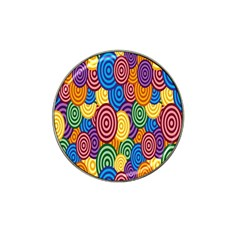 Circles Color Yellow Purple Blu Pink Orange Illusion Hat Clip Ball Marker (4 Pack) by Alisyart