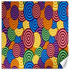 Circles Color Yellow Purple Blu Pink Orange Illusion Canvas 16  X 16   by Alisyart