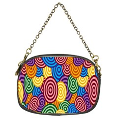 Circles Color Yellow Purple Blu Pink Orange Illusion Chain Purses (two Sides)  by Alisyart