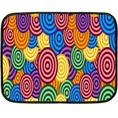 Circles Color Yellow Purple Blu Pink Orange Illusion Double Sided Fleece Blanket (mini)  by Alisyart