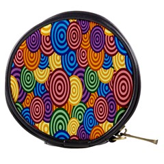 Circles Color Yellow Purple Blu Pink Orange Illusion Mini Makeup Bags by Alisyart