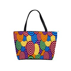 Circles Color Yellow Purple Blu Pink Orange Illusion Shoulder Handbags by Alisyart