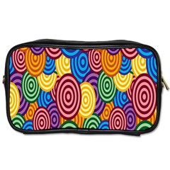 Circles Color Yellow Purple Blu Pink Orange Illusion Toiletries Bags 2 Side by Alisyart