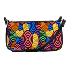 Circles Color Yellow Purple Blu Pink Orange Illusion Shoulder Clutch Bags by Alisyart