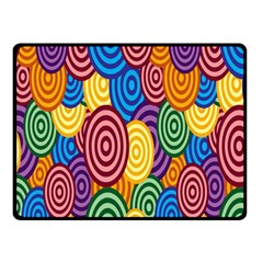 Circles Color Yellow Purple Blu Pink Orange Illusion Fleece Blanket (small) by Alisyart