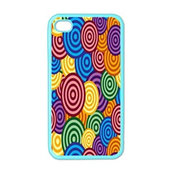 Circles Color Yellow Purple Blu Pink Orange Illusion Apple Iphone 4 Case (color) by Alisyart