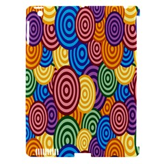 Circles Color Yellow Purple Blu Pink Orange Illusion Apple Ipad 3/4 Hardshell Case (compatible With Smart Cover) by Alisyart
