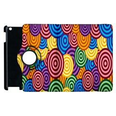 Circles Color Yellow Purple Blu Pink Orange Illusion Apple Ipad 3/4 Flip 360 Case by Alisyart