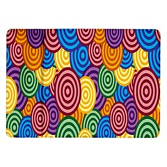 Circles Color Yellow Purple Blu Pink Orange Illusion Samsung Galaxy Tab 10 1  P7500 Flip Case by Alisyart