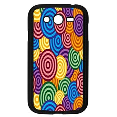 Circles Color Yellow Purple Blu Pink Orange Illusion Samsung Galaxy Grand Duos I9082 Case (black) by Alisyart