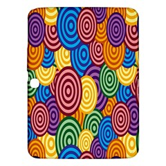 Circles Color Yellow Purple Blu Pink Orange Illusion Samsung Galaxy Tab 3 (10 1 ) P5200 Hardshell Case  by Alisyart