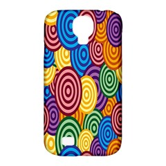 Circles Color Yellow Purple Blu Pink Orange Illusion Samsung Galaxy S4 Classic Hardshell Case (pc+silicone) by Alisyart