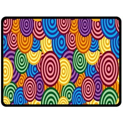 Circles Color Yellow Purple Blu Pink Orange Illusion Double Sided Fleece Blanket (large)  by Alisyart