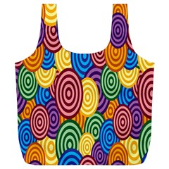 Circles Color Yellow Purple Blu Pink Orange Illusion Full Print Recycle Bags (l)  by Alisyart