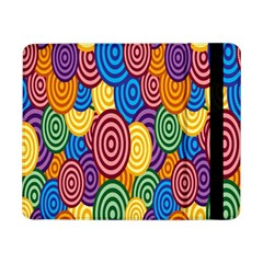 Circles Color Yellow Purple Blu Pink Orange Illusion Samsung Galaxy Tab Pro 8 4  Flip Case by Alisyart