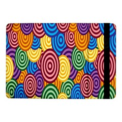 Circles Color Yellow Purple Blu Pink Orange Illusion Samsung Galaxy Tab Pro 10 1  Flip Case by Alisyart