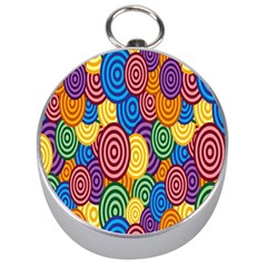 Circles Color Yellow Purple Blu Pink Orange Illusion Silver Compasses by Alisyart
