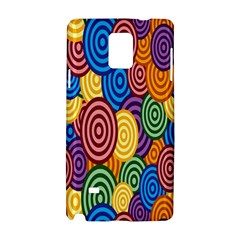 Circles Color Yellow Purple Blu Pink Orange Illusion Samsung Galaxy Note 4 Hardshell Case by Alisyart