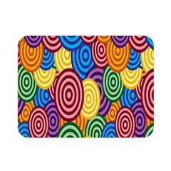 Circles Color Yellow Purple Blu Pink Orange Illusion Double Sided Flano Blanket (mini)  by Alisyart