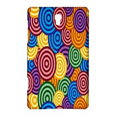 Circles Color Yellow Purple Blu Pink Orange Illusion Samsung Galaxy Tab S (8 4 ) Hardshell Case  by Alisyart