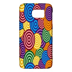 Circles Color Yellow Purple Blu Pink Orange Illusion Galaxy S6