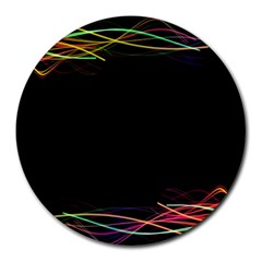 Colorful Light Frame Line Round Mousepads by Alisyart