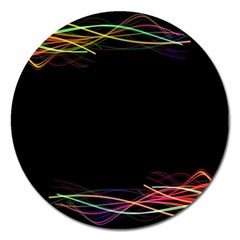 Colorful Light Frame Line Magnet 5  (round) by Alisyart