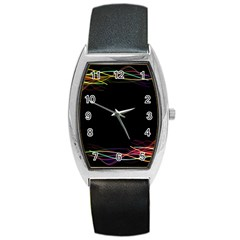 Colorful Light Frame Line Barrel Style Metal Watch