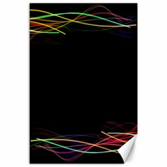 Colorful Light Frame Line Canvas 24  X 36  by Alisyart