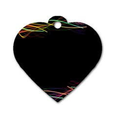 Colorful Light Frame Line Dog Tag Heart (one Side) by Alisyart