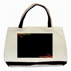 Colorful Light Frame Line Basic Tote Bag (two Sides) by Alisyart