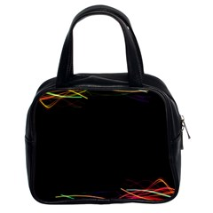 Colorful Light Frame Line Classic Handbags (2 Sides) by Alisyart