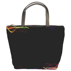 Colorful Light Frame Line Bucket Bags by Alisyart