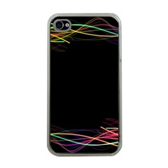 Colorful Light Frame Line Apple Iphone 4 Case (clear) by Alisyart