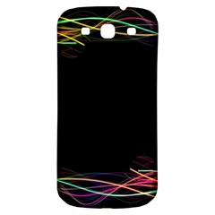Colorful Light Frame Line Samsung Galaxy S3 S Iii Classic Hardshell Back Case by Alisyart